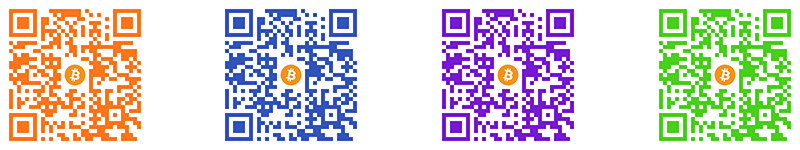 Custom Colored QR Code Examples